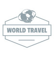 world travel logo simple gray style vector image