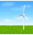 windmill eco vector image
