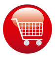 red car shopping emblem icon vector image