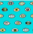 Eyes sketchy hand drawn outline colorful seamless vector image
