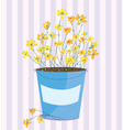Spring flowers easter background vector image