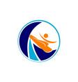 surf logo design template vector image