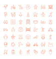 49 kid icons vector image vector image