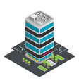 a modern art office building isometric office vector image vector image