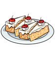 A plate with cakes vector image