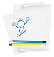 A sketch on a piece of paper vector image