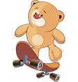 A stuffed toy bear cub cartoon vector image vector image