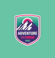 adventure outdoor - concept badge design mountain vector image vector image