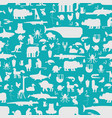 animals pattern seamless zoo background baby vector image vector image