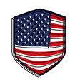 badge of flag united states of america colorful vector image vector image