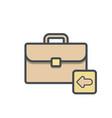 bag briefcase business portfolio previous vector image vector image