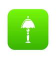 bedroom lamp icon green vector image vector image
