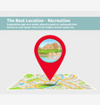 best location for recreation vector image