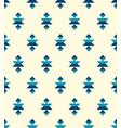 blue boho aztec small elements pattern vector image vector image