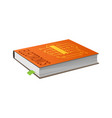 book on electronics with bookmark vector image vector image