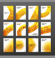 brochure cover design layout set vector image vector image
