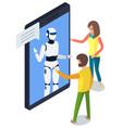chatbot concept support robot technology digital vector image