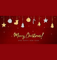 christmas knitted card with glitter vector image