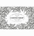 coffee tree banner template vector image vector image