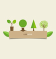 Collection of design tree vector image