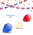 Colorful balloons in american flag colors vector image vector image