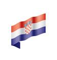 croatia flag vector image vector image