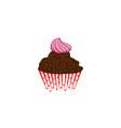 cup cake dessert logo vector image vector image