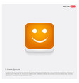 emoji icon orange abstract web button vector image