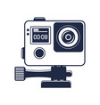 extreme action camera isolated icon vector image