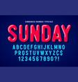 flat bubble comical font design colorful alphabet vector image