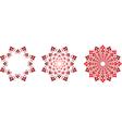 flower symbols vector image vector image