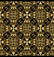 gold baroque 3d seamless pattern textured vector image vector image