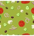 Greek salad seamless patternGreek olive tomatoes vector image vector image