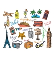 hand drawn travel vector image vector image