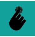 hand touching design vector image vector image