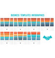 horizontal colorful strips for text templates vector image