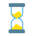 hourglass sandglass antique instrument icon on vector image