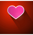 I Love You Theme Pink Heart on Dark Red Background vector image