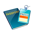 icon passport vector image