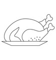 isolated chicken design vector image