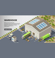 isometric warehouse delivery service vector image vector image