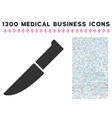knife icon with 1300 medical business icons vector image vector image