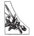 left war symbol has a border made a copper vector image vector image