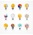 Light bulb - idea creative technology icons vector image vector image