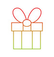 line present gift box with ribbon bow decoration vector image vector image