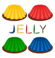 logo for set various dessert jelly vector image vector image