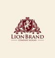 luxury golden royal lion king logo design vector image