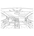 machine inside interior of the vehicle vector image