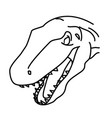 megalosaurus icon doodle hand drawn or black vector image vector image