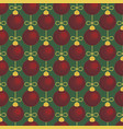 merry christmas tree toy ball seamless pattern vector image vector image
